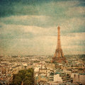 Vintage image of Eiffel tower, Paris, France Royalty Free Stock Photo