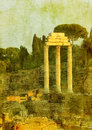Vintage image of roman ruins Royalty Free Stock Image