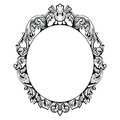 Vintage Imperial Baroque Mirror frame. Vector French Luxury rich intricate ornaments. Victorian Royal Style decor