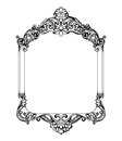 Vintage Imperial Baroque Mirror frame. Vector French Luxury rich intricate ornaments. Victorian Royal Style decor Royalty Free Stock Photo