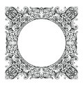 Vintage Imperial Baroque Mirror round frame. Vector French Luxury rich intricate ornaments. Victorian Royal Style decor