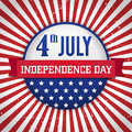 Vintage independence day badge poster vector illustration layered Royalty Free Stock Image