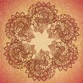 Vintage indian ornament mandala eps Stock Photo