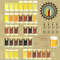 Vintage infographics set - beer icons Royalty Free Stock Photography