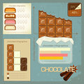 Vintage infographics set - chocolate icons Royalty Free Stock Photography