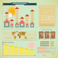 Vintage infographics set - house construction Royalty Free Stock Photos
