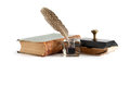 Vintage Inkstand And Book Royalty Free Stock Photo