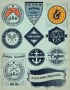 Vintage Insignias / logotypes set.