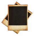 Vintage instant photo frames isolated on white this high quality image represents Stock Image