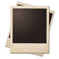 Vintage instant photo frames stack isolated with clipping path without shadows is included Stock Image