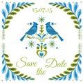 Vintage Invitation Bird Postcard