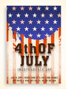 Vintage invitation card for American Independence Day. Royalty Free Stock Photo