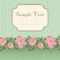 Vintage invitation card with pink peonies Stock Photography