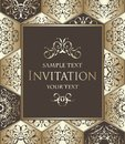 Vintage invitation with diamond ornament
