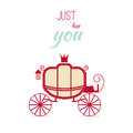 Vintage Invitation Luxury carriage design vector illustration. Royalty Free Stock Photo