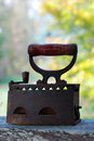 Vintage iron old heavy with patina Royalty Free Stock Photos
