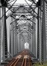 Vintage Iron Railway Bridge Royalty Free Stock Photo