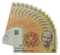 Vintage israeli money Stock Photography