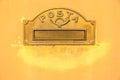 Vintage italian letterbox in dozza bologna italy Stock Photo