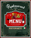Vintage italian restaurant menu and poster design eps Stock Image