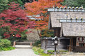Vintage Japan house Stock Photography