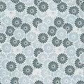 Vintage Japanese seamless flower pattern Royalty Free Stock Photo