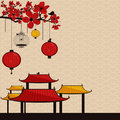 Vintage japanese style background Royalty Free Stock Photography