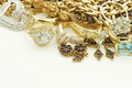 Vintage jewelry with gold and diamonds Stock Photo