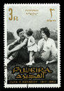 Vintage John F Kennedy Postage stamp from Fujeira Royalty Free Stock Photo