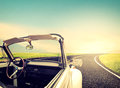 Vintage Journeys with classic car Royalty Free Stock Photo