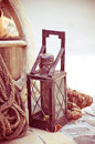 Vintage kerosene lamp photo design Royalty Free Stock Photo