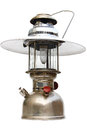 Vintage kerosene lamp on white background Royalty Free Stock Photos