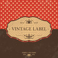 Vintage label design with retro background grunge texture Stock Images