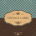 Vintage label design with retro background grunge texture Royalty Free Stock Photo