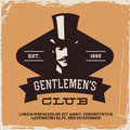 Vintage label with gentleman t shirt print Royalty Free Stock Image