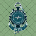 Vintage label with a nautical theme the vector image Royalty Free Stock Images