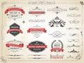 Vintage Label Ornament Divider Vector