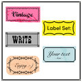Vintage label set banner sticker Royalty Free Stock Image