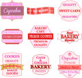Vintage label set vector illustration Royalty Free Stock Photography