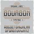 Vintage label typeface named Bourbon.