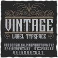 Vintage Label Typeface Poster
