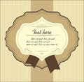 Vintage label vector elements for design beige blank with space text Stock Photography