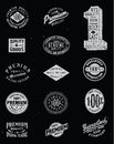 Vintage label vector set various Royalty Free Stock Photography