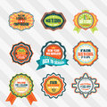 Vintage labels for back to school vector set. Royalty Free Stock Photo