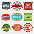 Vintage labels a collection of perfect to showcase and promote your products Stock Image