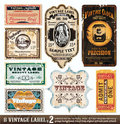 Vintage Labels Collection - Set 2 Royalty Free Stock Photography