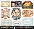 Vintage Labels Collection - Set 4 Royalty Free Stock Image