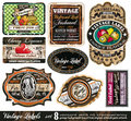 Vintage Labels Collection -Set 8 Royalty Free Stock Image