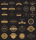 Vintage labels logo with crown, anchor, arrow