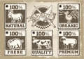 Vintage labels page for butcher shop detailed illustration of a illustration in eps with color space in rgb Stock Image